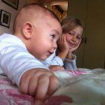 Meus filhos Henrique e Isabella
