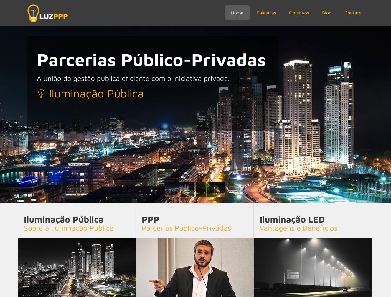 Luz PPP . Iluminação Pública
